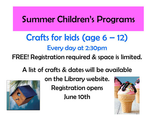summer craft programs